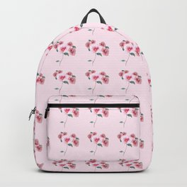 Floral Bouquet Pattern. Roses and a Peony Backpack