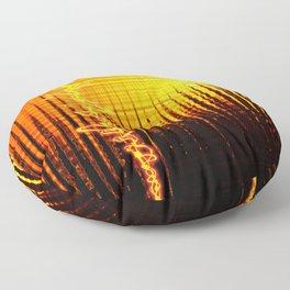 Sound wave orange Floor Pillow
