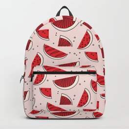Watermelon red pink Backpack