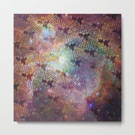 Valknut Galaxy Pattern Metal Print