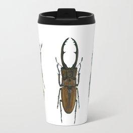 Illustration of Three Beetles Travel Mug