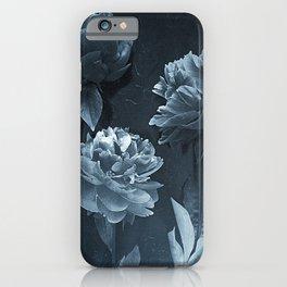 Blue Peonies iPhone Case