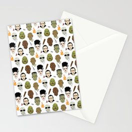 Monster Mash pattern Stationery Cards