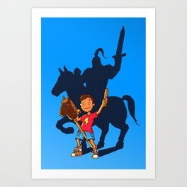 Knight in Shining Armor Art Print