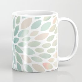 Floral Bloom, Abstract Watercolor, Coral, Peach, Green, Floral Prints Coffee Mug
