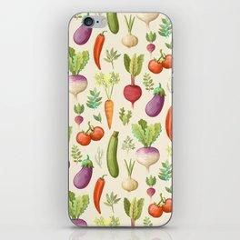 Garden Veggies Light iPhone Skin
