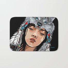 She Wolf Bath Mat