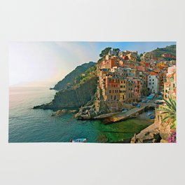 Italy. Cinque Terre - Canal side Rug