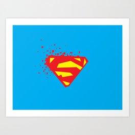 Square Heroes - man of steel Art Print