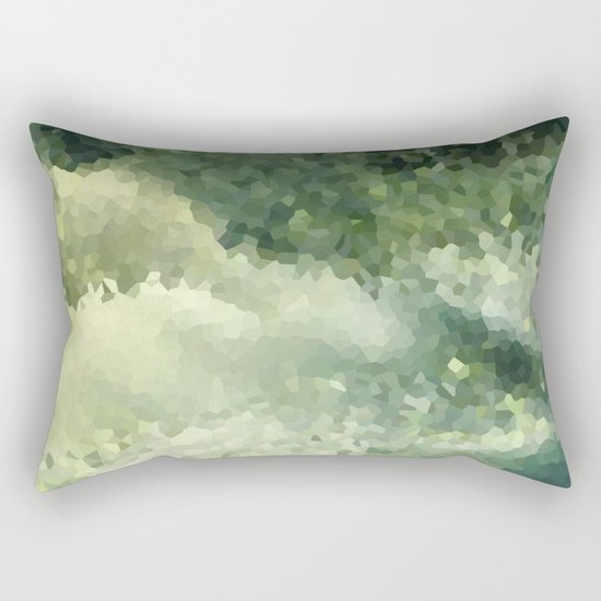 The green background .Storm . Rectangular Pillow