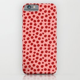 Irregular Small Polka Dots pink and red iPhone Case
