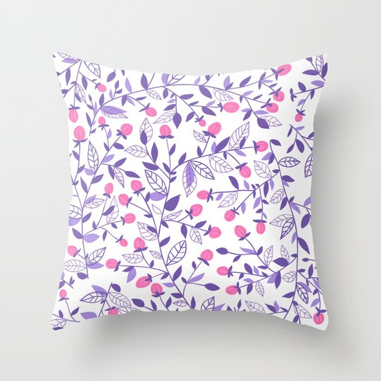 Floral doodles pink and violet by katerinamitkova
