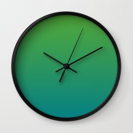 Electric Eel Dirty Green Blue Wall Clock