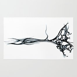 Beautiful roots drawing stylised Rug