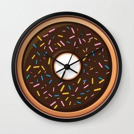 Delicious Chocolate Sprinkles Doughnut / Donut Wall Clock