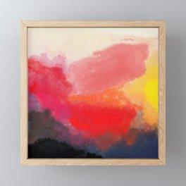 Red, Black and Yellow Mosaic Framed Mini Art Print