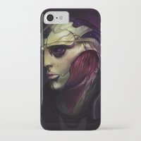 mass effect iPhone & iPod Cases featuring Mass Effect: Thane Krios by Ruthie Hammerschlag