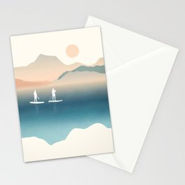 Paddle Board Print Stationery Cards