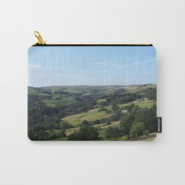 panoramic view of the village of luddenden in west yorkshire surrounded by fields Carry-All Pouch