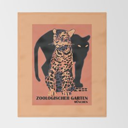 Retro vintage Munich Zoo big cats Decke