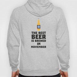 Best Beer is brewed in November T-Shirt Dk446 Hoody