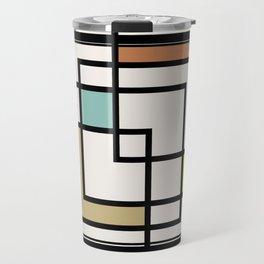 Mid Century Modern Squares Travel Mug