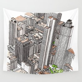 New York View Wall Tapestry