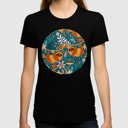 Happy Boho Sloth Floral T-shirt
