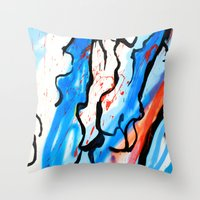 american Throw Pillows featuring American by LA_Graffiti Decor