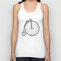 wooden bicycle Unisex Tank Top