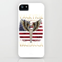 Valkyrie your Ride to Valhalla USA T-Shirt iPhone Case