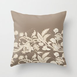 old lace border Throw Pillow
