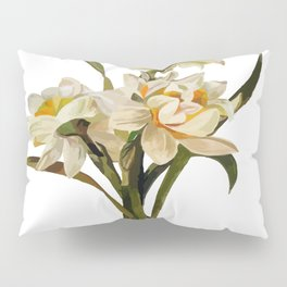 Double Narcissi Spring Flower Bouquet Pillow Sham