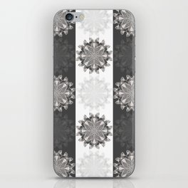 Black & White Clam Flowers iPhone Skin