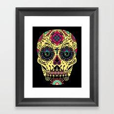 Deco Sugar Skull 3 Framed Art Print