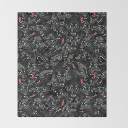 Wolf Pack Pattern Throw Blanket