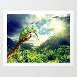 cameleophant Art Print
