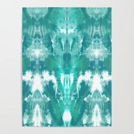 Aqua Blue Lagoon Poster