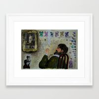 musa Framed Art Prints featuring LA MUSA VENALE by Luca Piccini