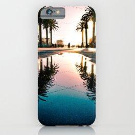 Hermosa Beach Palm Tree Reflection iPhone Case