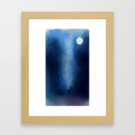 Cabin In Blues Framed Art Print