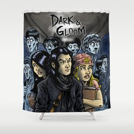 Dark & Gloom - Haunted School of Fools Shower Curtain