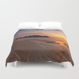 Sunset over the Coast Duvet Cover