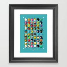 A.T. Cubies (60 CHARACTERS) Framed Art Print