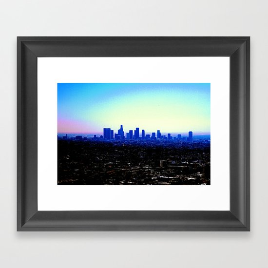 Haze of El Lay Framed Art Print