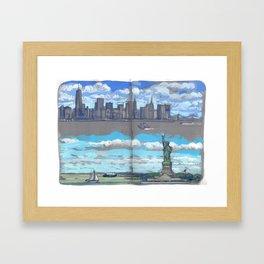 Arrivée à New-York Framed Art Print
