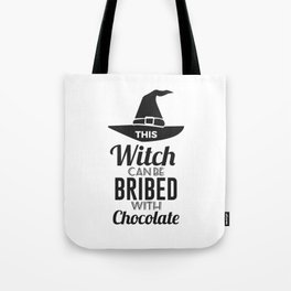 Bribe Witch With Chocolate Candy Trick Or Treat Halloween Design Tote Bag