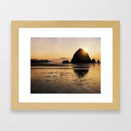 Cannon Beach haystack Framed Art Print