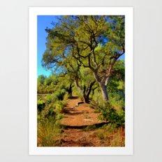 The Oak Trail Art Print