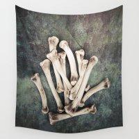 bones Wall Tapestries featuring Bones by Maria Heyens
